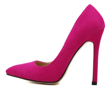 Size 35-43 Women Pumps 2016 Sexy High Heels Pointed Toe Party Shoes Woman Wedding Office Pumps Red Green Zapato Mujer Pluse size