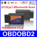 V1.5 Supports Android  Diagnostic Tool Bluetooth ELM327 CAN-BUS Scanner OBDII ELM 327 USB Interface ELM327 V1.5 BT Free Shipping