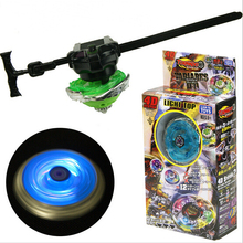 Best Birthday Gift New Style Sample Retail 4D Light Top Colorful Alloy Beyblade Metal Fusion 4D Set Children Christmas Gift