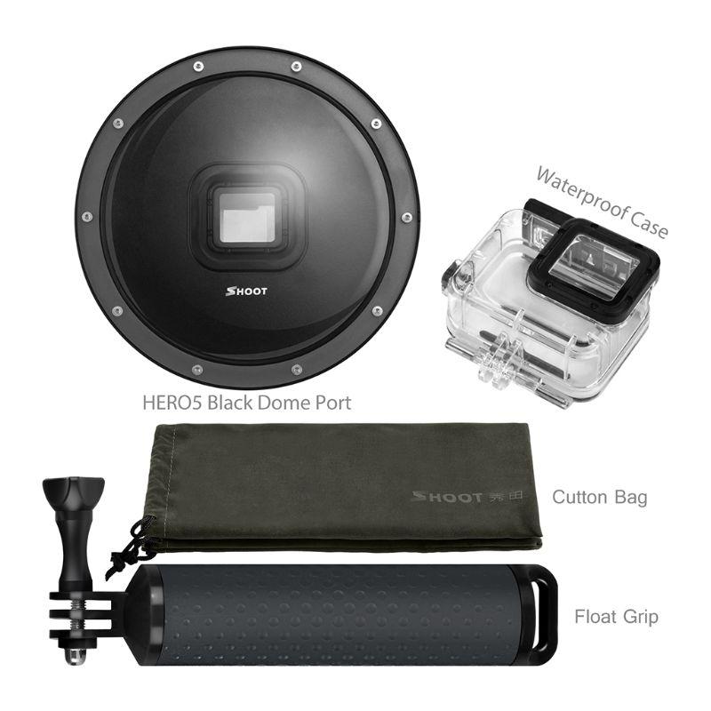 Port dôme de plongée 6 pouces pour caméra GoPro Go Pro 7 6 5 caméra de sport noire avec boîtier étanche dôme pour Gopro 7 6 5 accessoire - 4