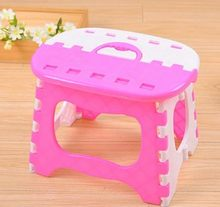 CAMMITEVER Blue Pink Portable Plastics Folding Stool Cartoon Ottomans Outdoors Fishing Study Dinner Children Stool(China)