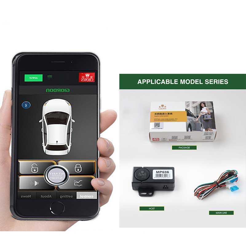 Mobile Phone Control Car Alarm System Reaching Out To Unlock, Comfortable Keyless Entry Central Locking For Toyota 4runner