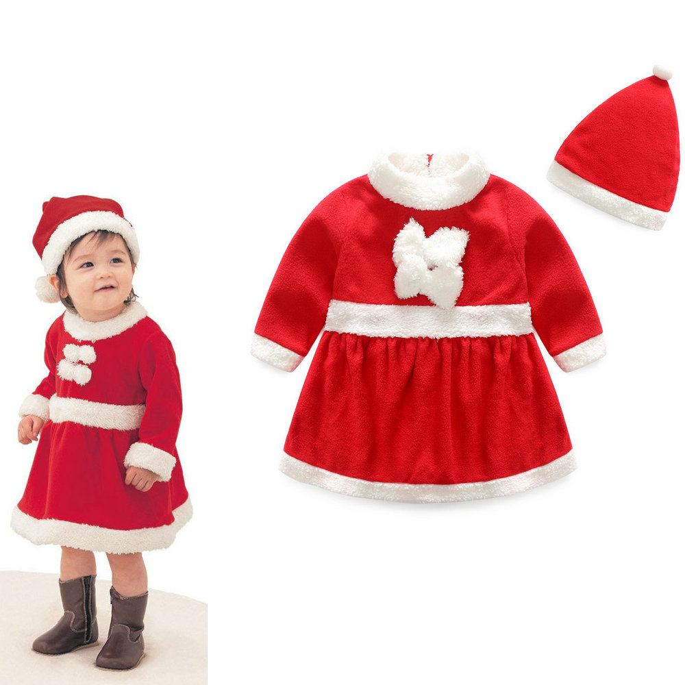 UAS bebé niñas Navidad Año Nuevo es mejor regalo Santa Claus traje . 1ff710937727