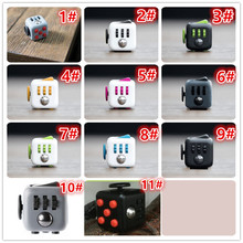 Hot Fidget Cube Toys Squeeze Fun Stress Reliever Fidget Toys Puzzle Magic Cube Toys Stress Cube Come With Box Stress Wheel