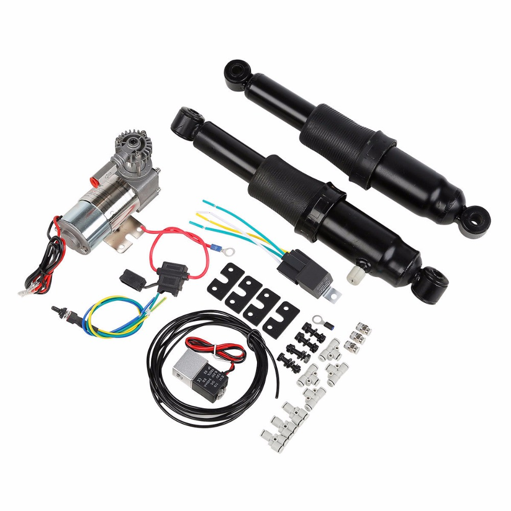 Motorcycle Rear Air Ride Suspension For Harley Touring Road King Electra Glide Street Glide Ultra Classic