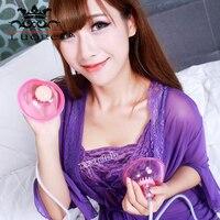 Luoge Breast Massager Female Masturbation Sucking Vibrating Breast Enhancer Enlargement Pump Suction Cups Sex Toys for Women