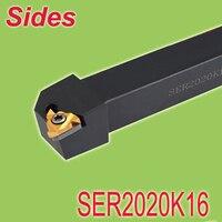 Free Shiping SER2020K16 20*20*125 External Threading Turning Lathe Bar Tool Holder