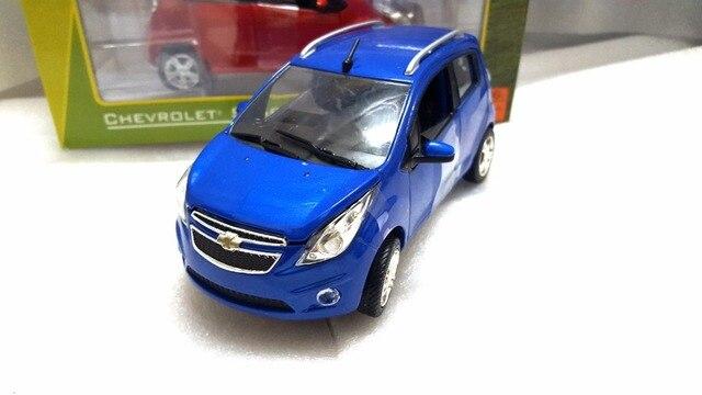 124 Diecast Model For Chevrolet Chevy Spark Blue Minicar Alloy Toy
