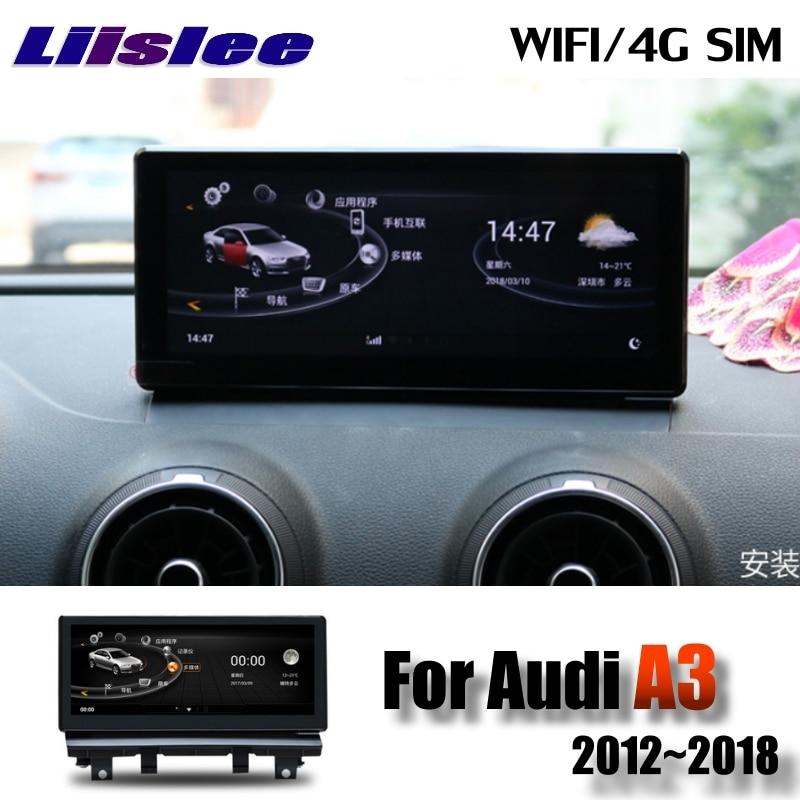 Lislee Car Multimedia Player NAVI For Audi A3 S3 RS3 8V MQB 2012~2018 Original Car System Radio WIFI MAP GPS Screen Navigation