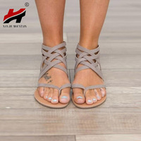 Plus Size 34 43 Flats Summer Women S Sandals 2017 New Fashion Casual Shoes For Woman