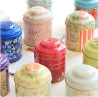 Fashion Moistureproof Large Double Tin Receive Seal Tea Tins Classical Container Storage Mix Order 4pcs Lot