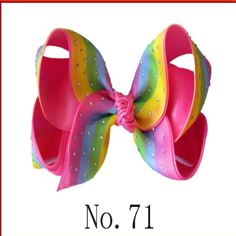 """10 BLESSING Good Girl Two Tone 6/"""" ABC Hair Bow Clip Grosgrain Ribbon Rhinestone"""