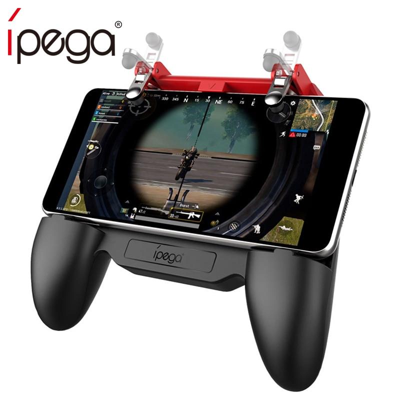 Nuevo Ipega PG-9123 Multi-funcional juego agarre con ventilador de refrigeración y la fuente de alimentación para 4,5-6,5 pulgadas de teléfono para android vs 9023 9076 90