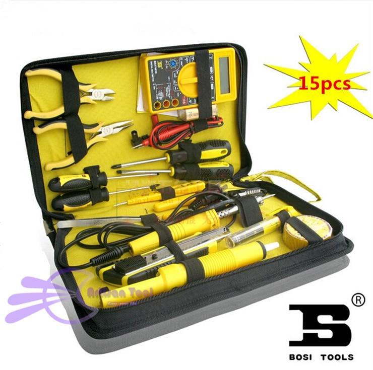15pcs Elettronica per la casa Kit di strumenti di riparazione Rete - Set di attrezzi - Fotografia 6