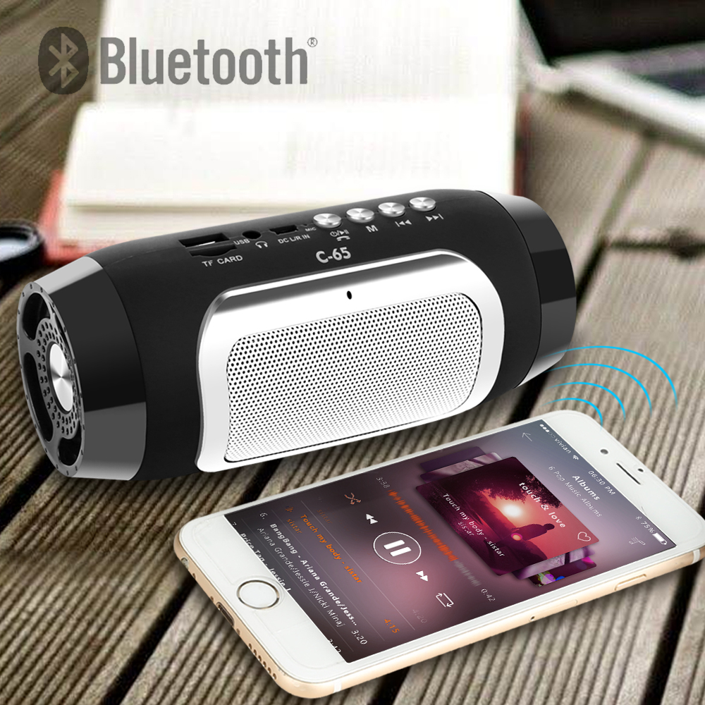 TOPROAD HIFI Portable Wireless Bluetooth Speaker With TF Support FM Radio And Sub Woofer Column Speakers 6