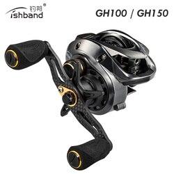 2019 Fishband tyczki kołowrotek GH100 GH150 7.2: 1 karpia przynęty odlewania odlewania kołowrotek dla pstrąga okonia tilapia łowienie okonia Tackle w Kołowrotki od Sport i rozrywka na