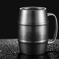 2pcs 410ml Reusable Stainless Steel Double Wall Insulated Coffe Coffee Mugs Beer Water Hot Cold Drinks Beverage Cups