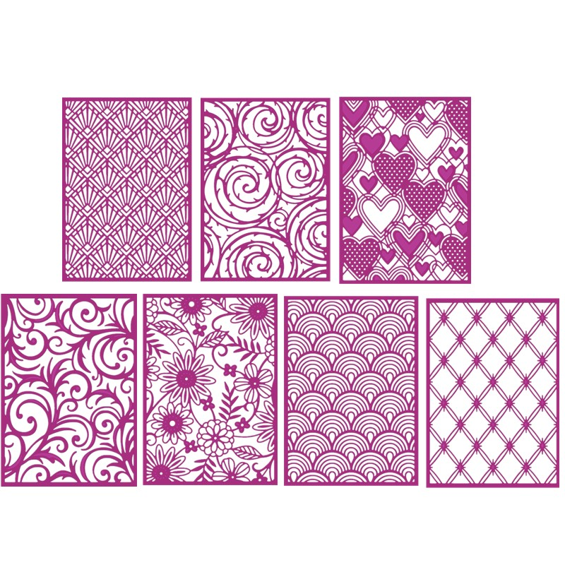 Clamshell Trellis Country Garden Swirls Hearts Covers Metal Cutting Dies For DIY Scrapbooking Paper Cards Making Crafts 2019 New