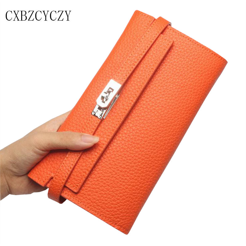 2017 New High Quality Famous Brand Genuine Leather Women Wallets Designer Purse Classic Long Woman Wallet Cowhide Clutch Bag box