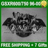+ зализа для SUZUKI GSXR 600 750 GSX R600 R750 все плоский черный L259 SRAD матовый черный 1996 1997 1998 1999 2000 96 97 98 99 00