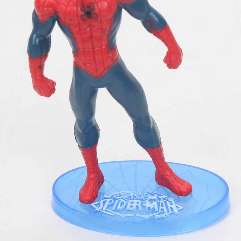 Os vingadores homem aranha bolo figura super herói tema spiderman bolo topper crianças bebê mostrar festa de aniversário decoração do bolo