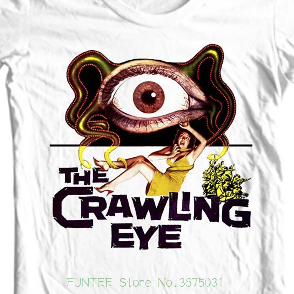 Fashion New Arrival Simple The Crawling Eye T-shirt Vintage Sci Fi Movie Free Shipping 100% Cotton image