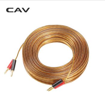 CAV HIFl Original Stereo Speaker Audio Cable Gold Line Single Crystal Silver Coated 30(M) Horn Wire Plated Speaker Cables