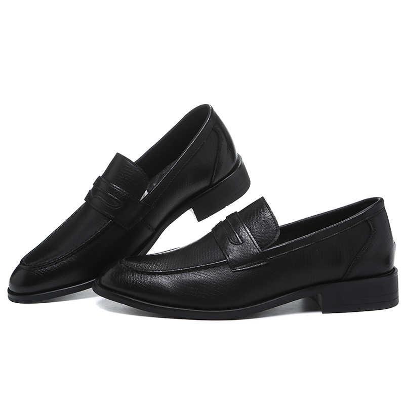 2019 ผู้ชายรองเท้า Handmade Brogue สไตล์ Paty หนังรองเท้าผู้ชายรองเท้าหนัง Oxfords รองเท้าอย่างเป็นทางการ