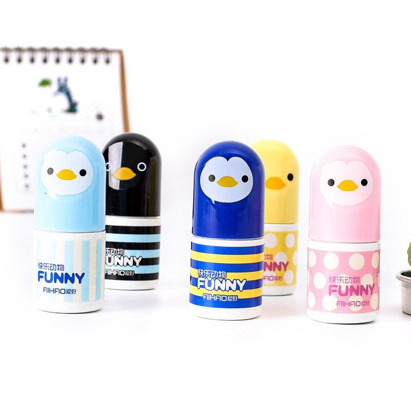 Kawaii Animal Correction Tape , Penguin Shaped Correction Tape For School Kids 1pcs/lot