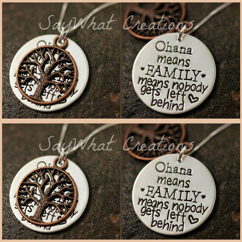 StrollGirl 925 Sterling Silver Personalized Customization Tree Of Life Necklace Hand Stamped Engraved Custom Jewelry