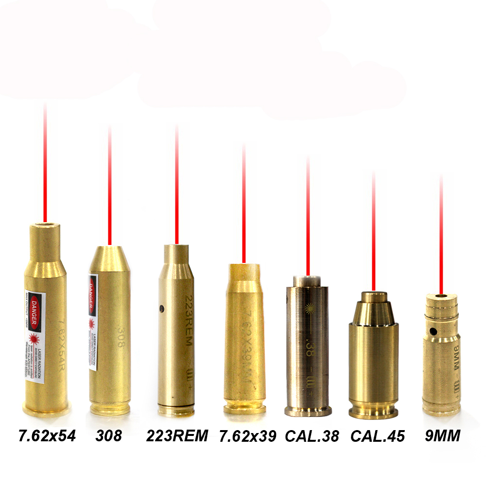 Red Dot Laser Bore Sight 7.62X54 7.62X39 9MM CAL.38 45 223REM 308 For Scope Hunting Cartridge Bore Sighter Red Laser