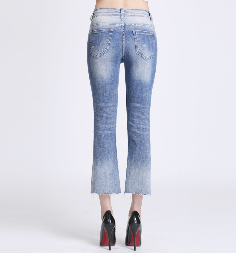 KSTUN Women Jeans with Emboridered Retro Blue Stretch Flare Pants Boot Cut High Waist Gloria Jeans Vintage Plus Size Femme Mujer 18