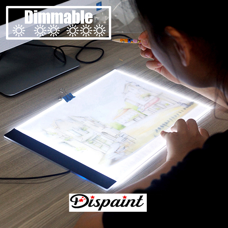 Dimmerabile-Ultrasottile-A4-HA-CONDOTTO-LA-Luce-Tablet-Pad-Applicare-per-EU-UK-AU-US-Spina (4)