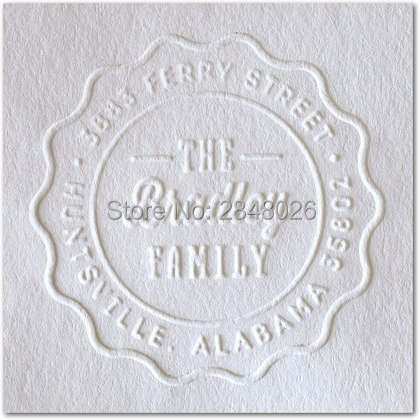 Custom Address Embosser Stamp Personalized Wedding Steel