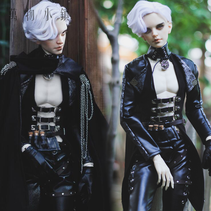 Accept custom European style Black leather Suit BJD Uncle 1/3 SD SSDF Doll Clothes fashion bjd doll retro black linen pants for bjd 1 4 1 3 sd17 uncle ssdf popo68 doll clothes cmb67