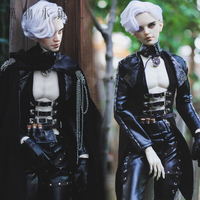 Accept custom European style Black leather Suit BJD Uncle 1/3 SD SSDF Doll Clothes