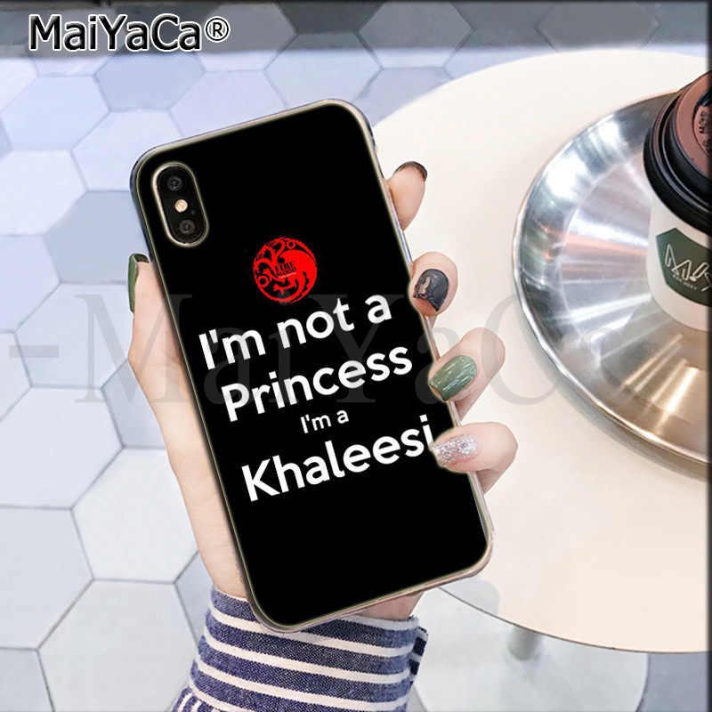 MaiYaCa 私は王女私は a Khaleesi かわいい電話アクセサリーケース apple の iphone 5 8 7 6 6S プラス X XS 最大 5 5S 、 SE XR カバー