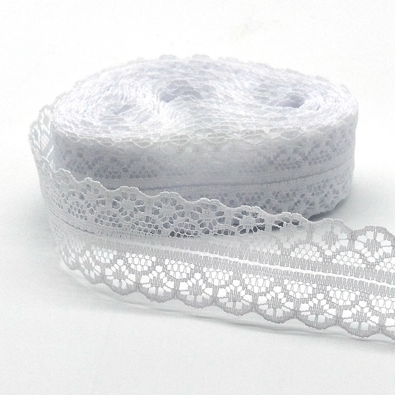 US $0.68 |High Quality 10 Yards White Lace Ribbon Tape Width 28MM Trim Fabric DIY Embroidered  For Sewing Decoration African Lace Fabric|Lace| |  - AliExpress