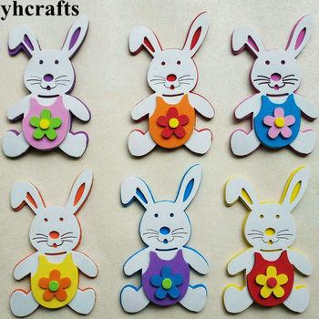 1bag/LOT,EVA foam 3D rabbit without stickers Kindergarten crafts Scrapbooking kit.Pocket craft Easter Classic toys OEM