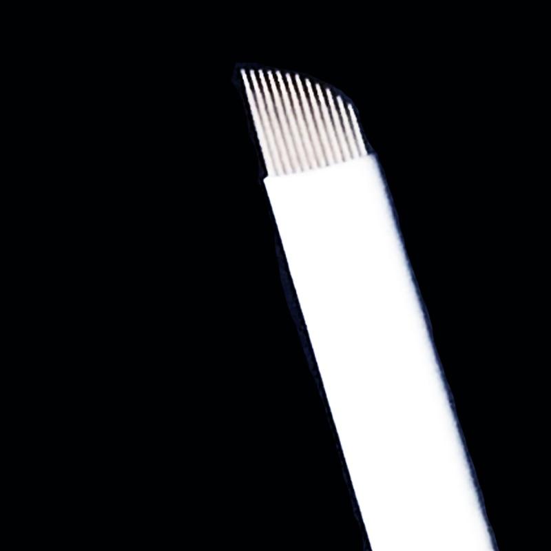 500pcs Box Hot Sale 12 Flex Microblading Needles Blades Permenent Makeup Pins 12 Tattoo Needle For