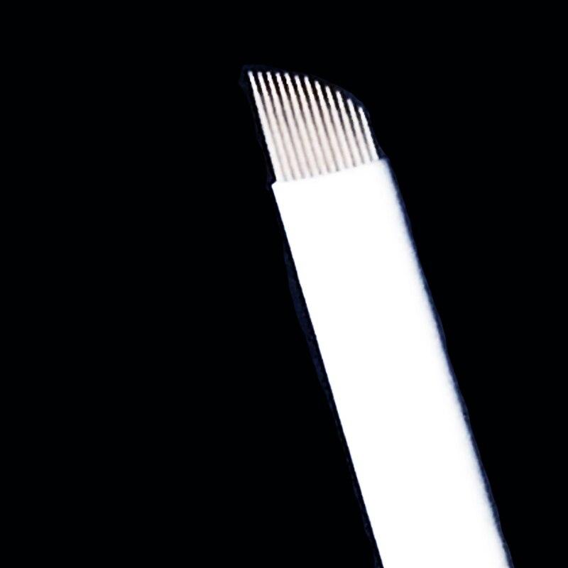 500 pièces/boîte offre spéciale 12 Flex Microblading aiguilles lames Permenent maquillage broches 12 aiguille de tatouage pour Micrblading stylo
