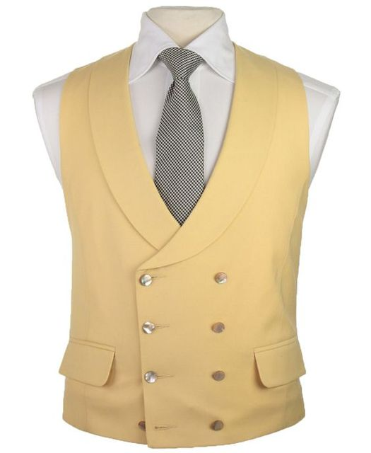 99d2d2f8540 Latest Coat Pant Designs Champagne Beige Ivory Vest Double Breasted Vests  Shawl Lapel Waistcoat Slim Fit Tuxedo Terno Masculino