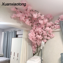 Xuanxiaotong 1pcs Dense Artificial Cherry Blossoms Flowers Branches for Wedding Arch Bridge Decoration Flower