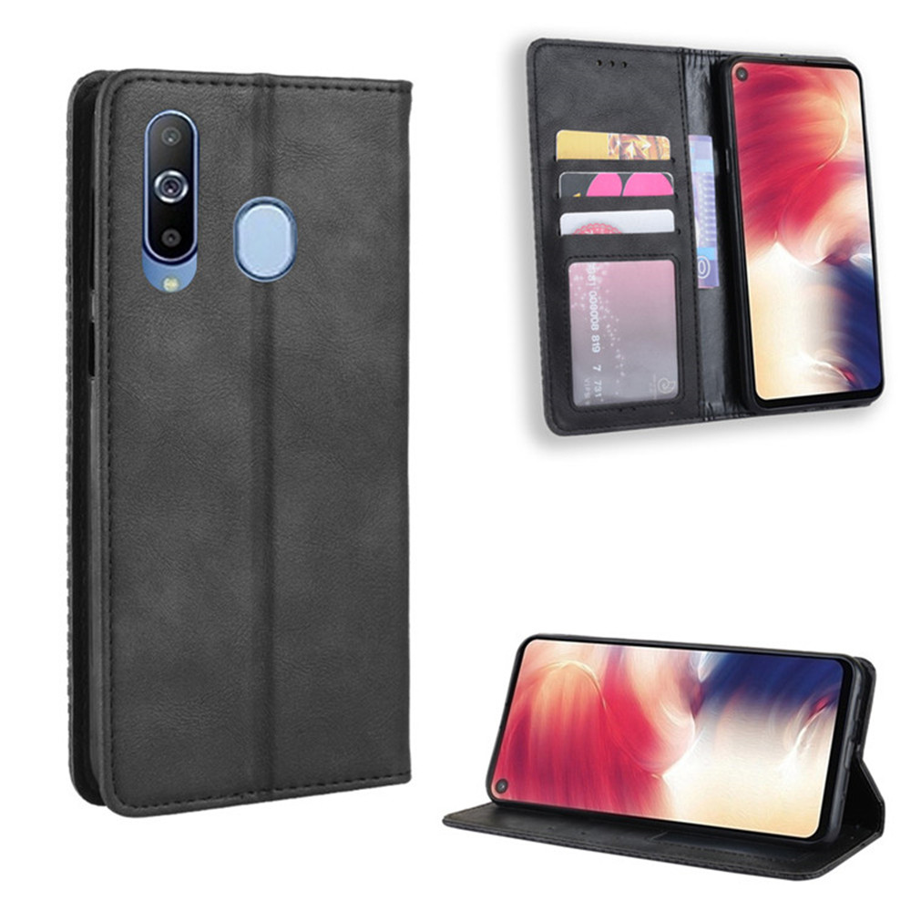 For <font><b>Samsung</b></font> <font><b>Galaxy</b></font> <font><b>A60</b></font> Case 6.3 inch Luxury PU Leather Wallet Magnetic Adsorption Case For <font><b>Samsung</b></font> <font><b>A60</b></font> <font><b>A6060</b></font> <font><b>SM</b></font>-A606F Phone Bags image