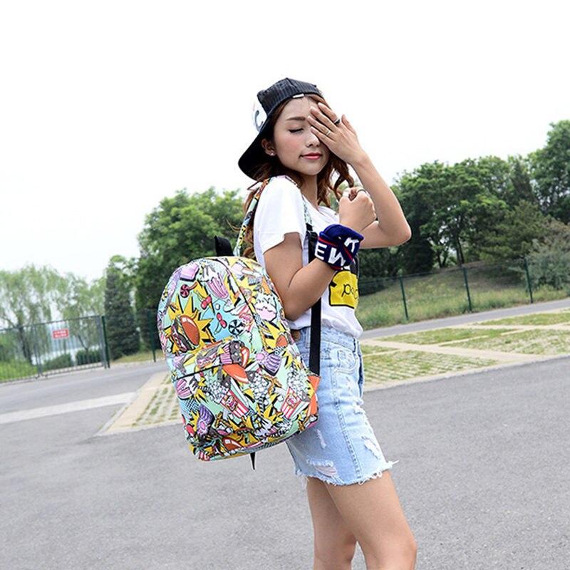 grafite lona mochila estudantes bolsa Size : 31*11*44cm(l*w*h)