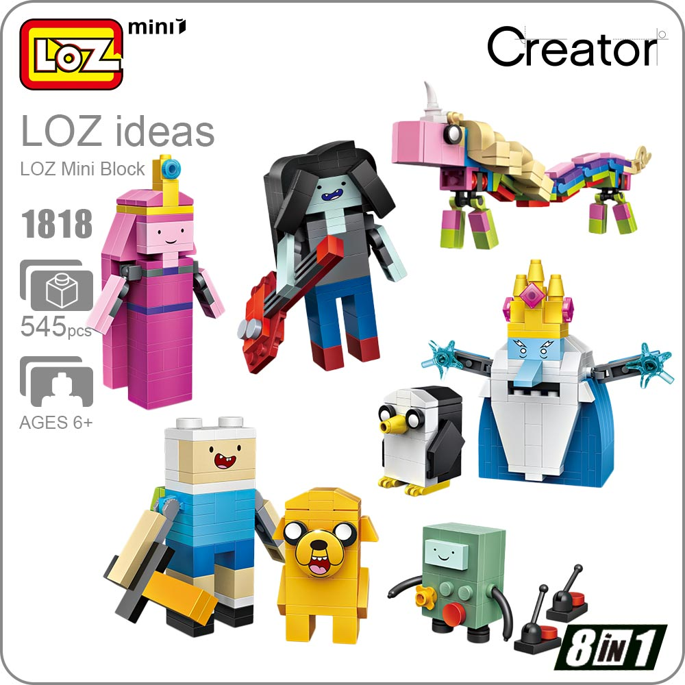 LOZ Mini Block Figure Anime Assembly Model Building Blocks Set Dolls Bricks Toy Kids Gift Brick Built Creators Cartoon DIY 1818 loz mini diamond block world famous architecture financial center swfc shangha china city nanoblock model brick educational toys