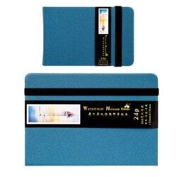 Kuelox Manual de Viagem Aquarela Aquarela Algodão 300 g/g Plana 24 Manuais Sketchbook Aquarela Materiais de Arte