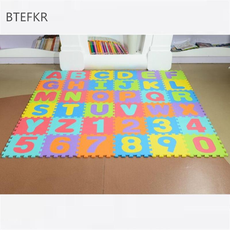 26 pièces/ensemble enfants Puzzle tapis de jeu anglais Alphabet mousse tapis bébé éducation tapis développement tapis Puzzles pour enfants bébé Gym