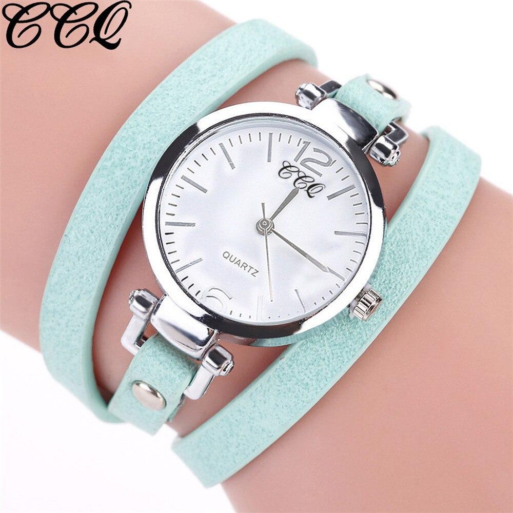 CCQ Luxury Fashion Ladies Watch Leather Bracelet Watch Women Quartz Watch Casual Women Wristwatches Jewelry Relogio Feminino L58 Jewelry & Watches