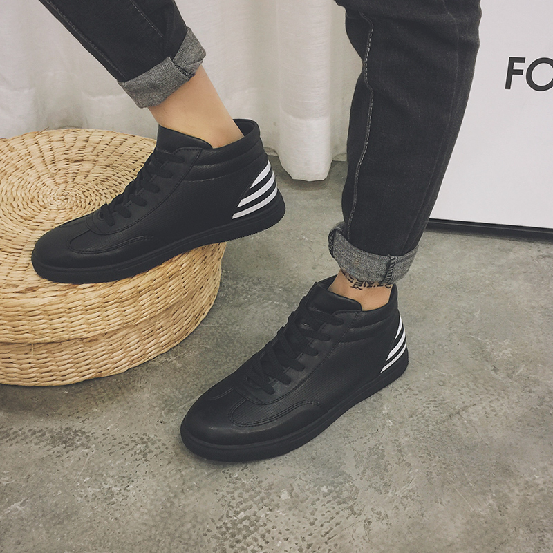 6e482c0de98 2016 Winter Men Casual Shoes Warm Add Wool Board Men British High Dunk  Fashion Shoes Winter Flats Joker Tidal lace-up boots